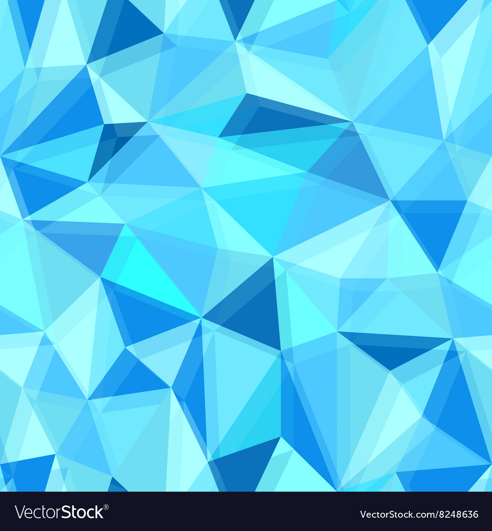 Blue seamless polygon pattern from triangles