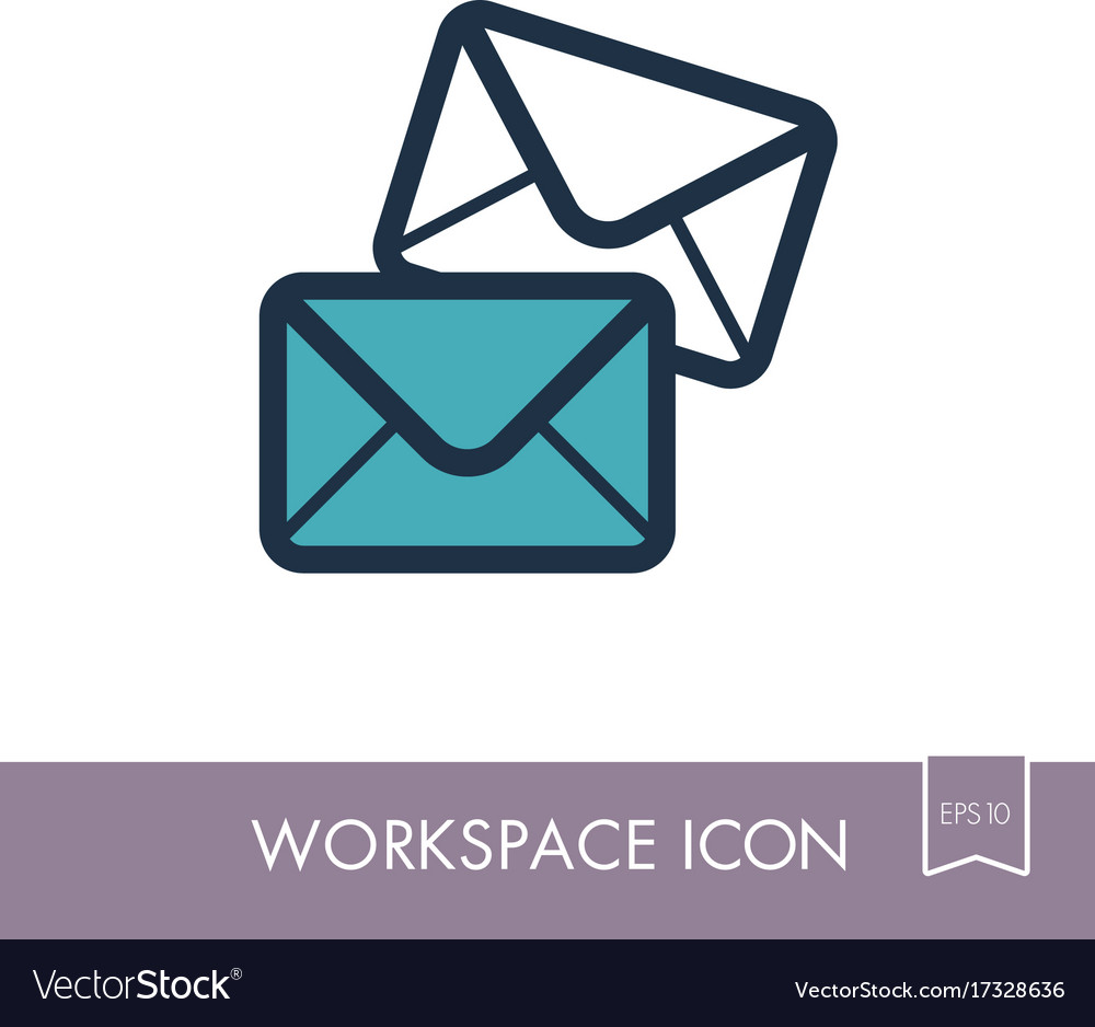 Mail outline icon workspace sign