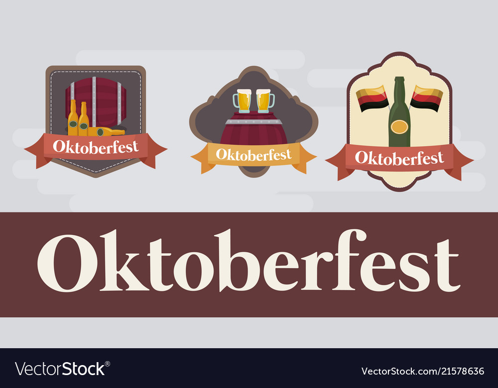 Oktoberfest festival design with icon