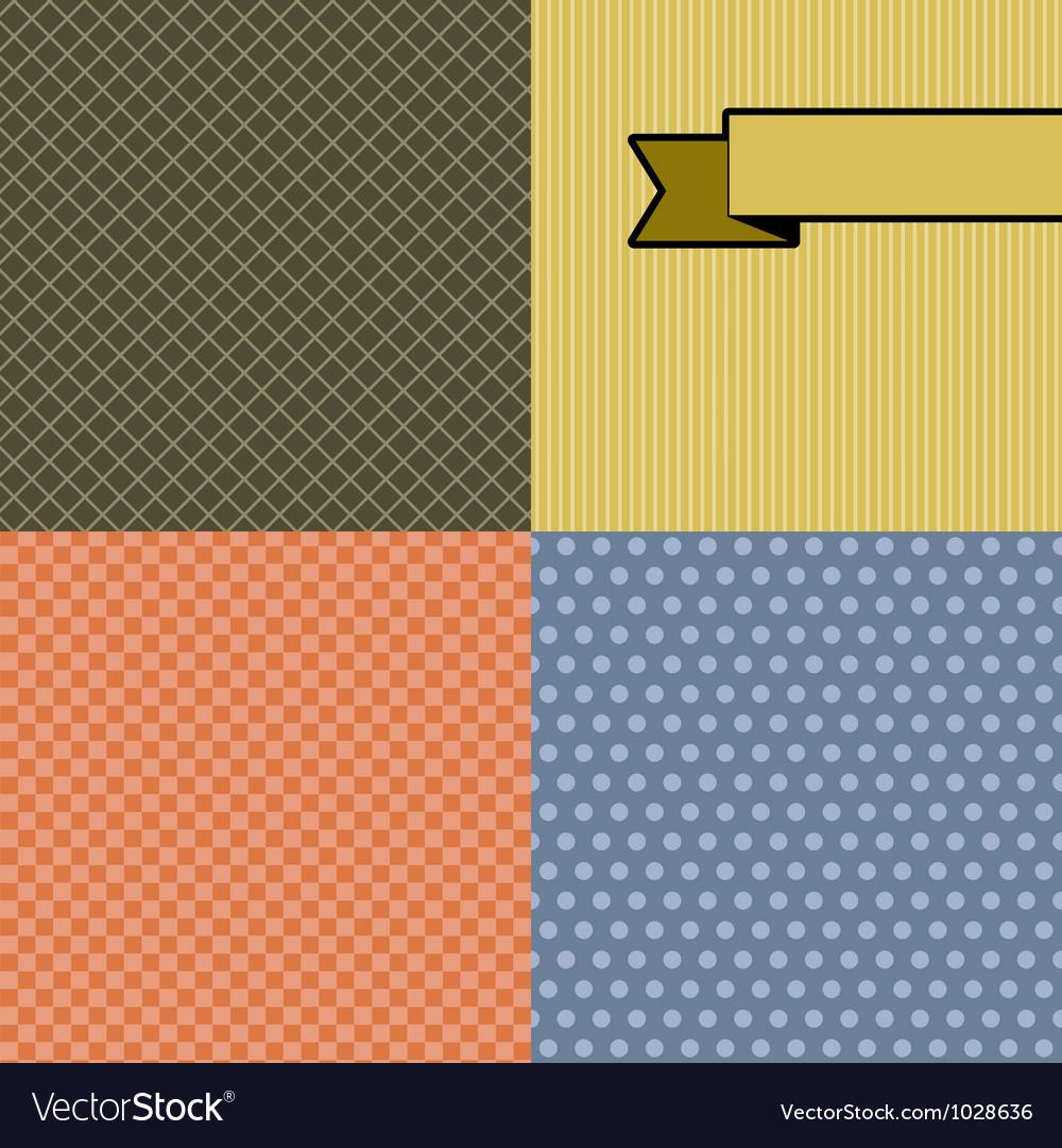 Seamless abstract retro pattern Stylish geometric