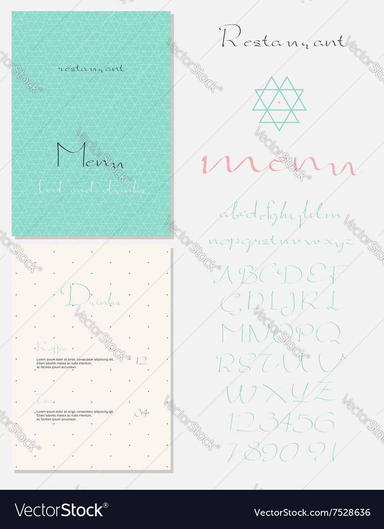 Set of vintage styled restaurant menu vector image
