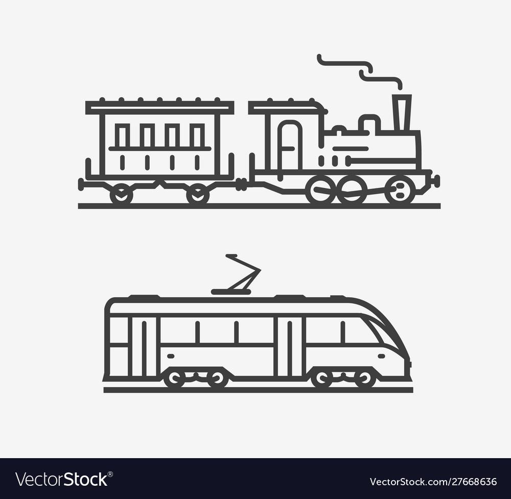Train icon transport transportation sign or