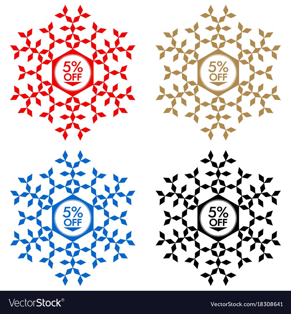 30 off discount sticker snowflake 30 off sale