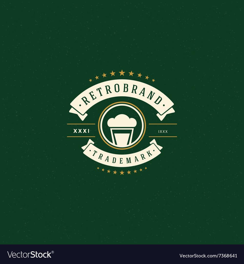 Beer Logo Template Design Element Vintage
