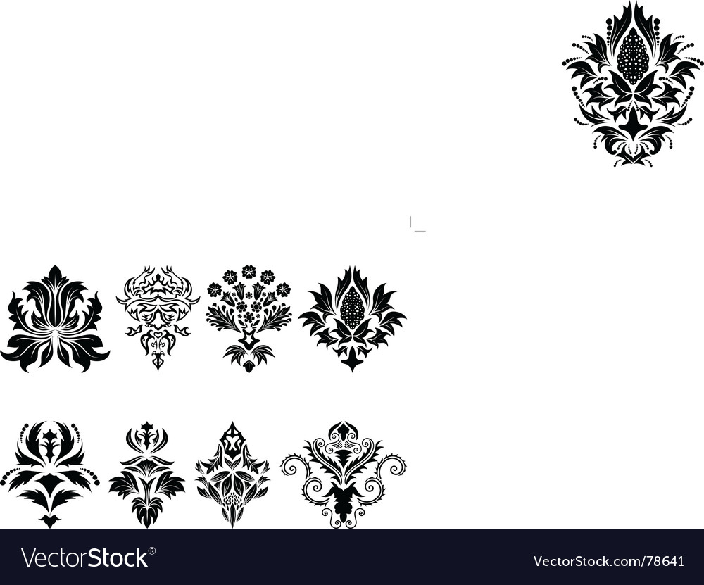 Damask emblem set