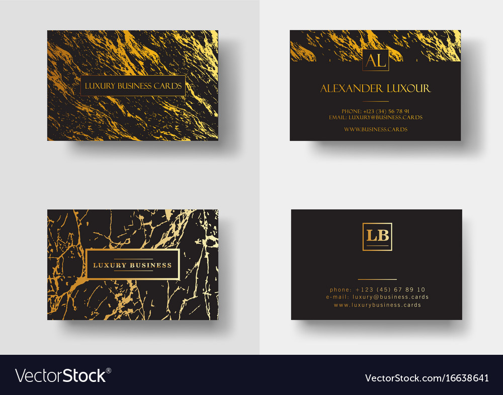 Elegant Black Luxury Business Cards With Marble