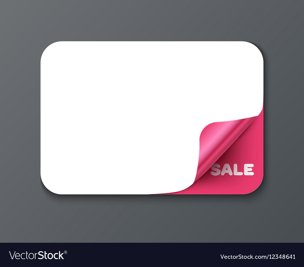 Gift card template with curl corner