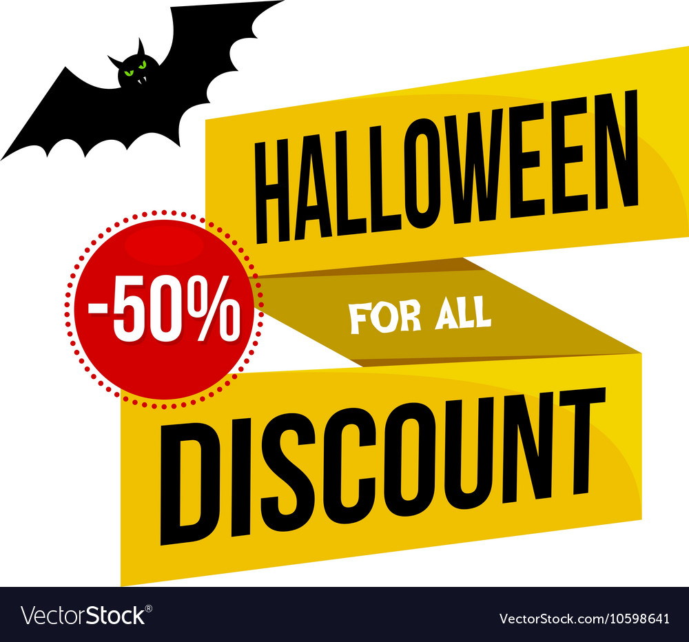 Halloween Sale Logo or Label