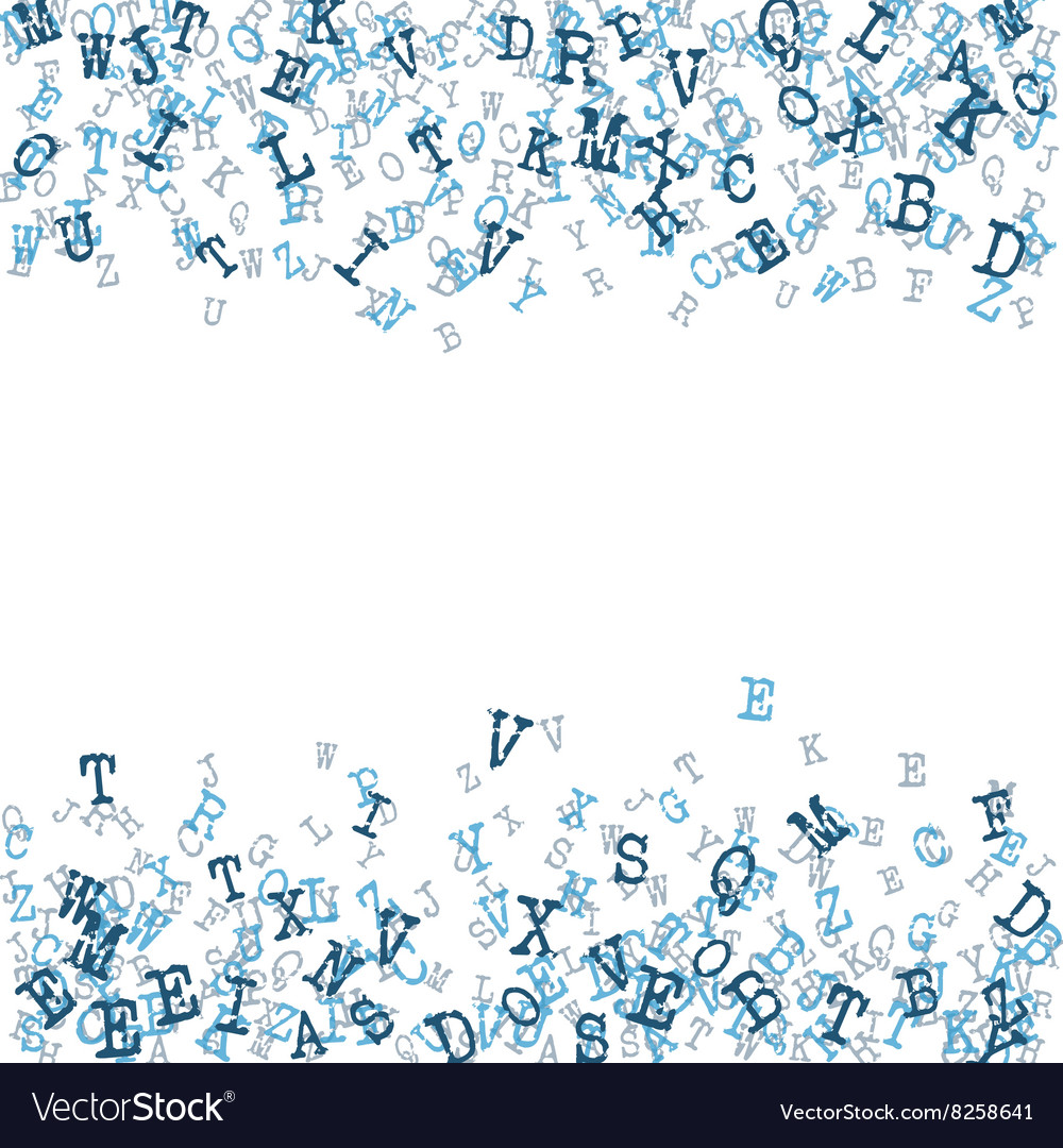 Scatterred Alphabet Background vector image