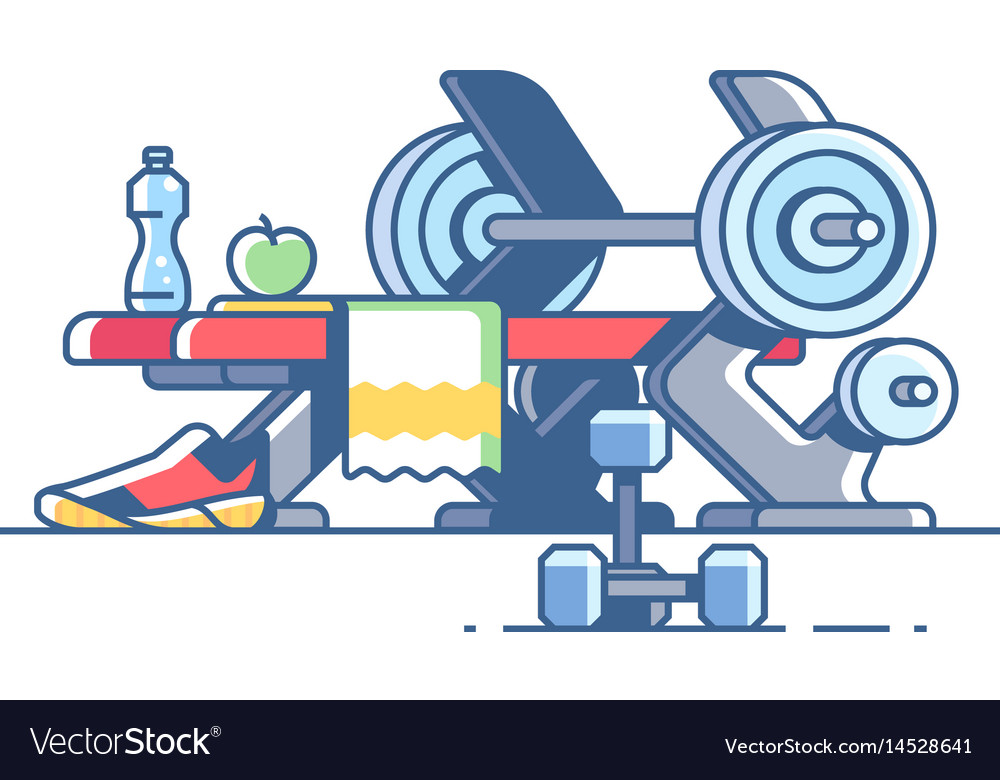 Sports and fitness vector image