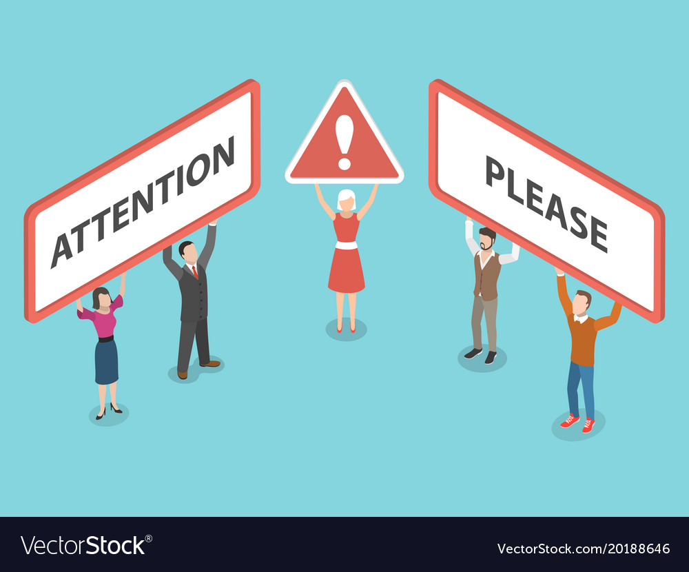 Attention please isometric