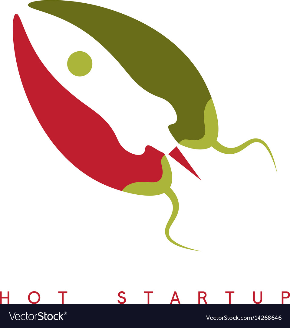 Design template of hot rocket startup chili pepper