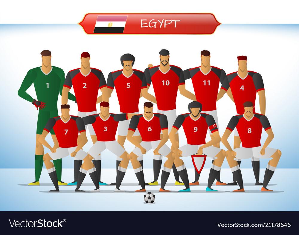 a6db6b228 Egypt national football team for international Vector Image