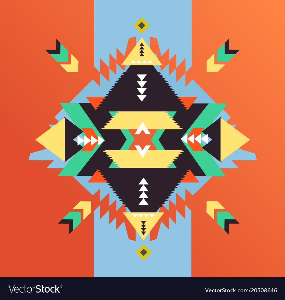Fashion mexican navajo or aztec native american