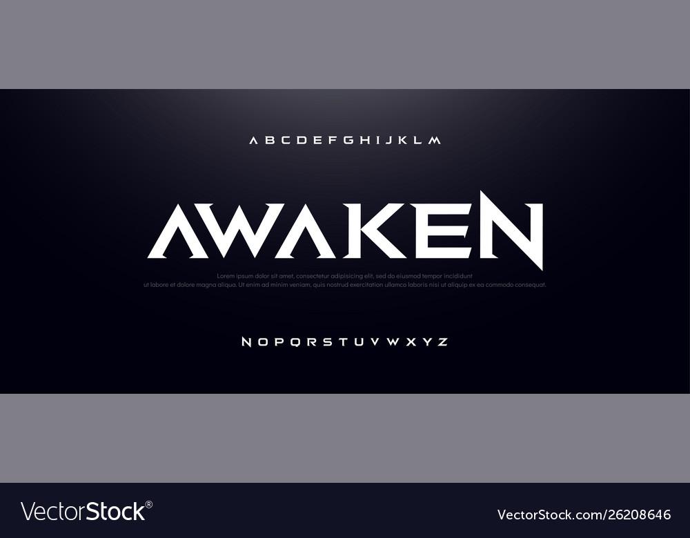 Game sport movie alphabet font typography modern