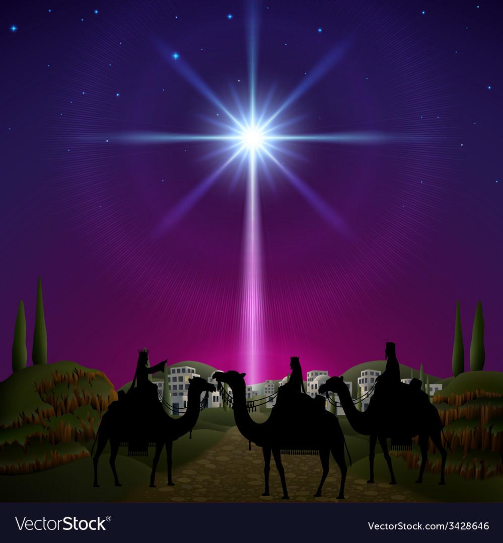 Three Wise Men in Bethlehem