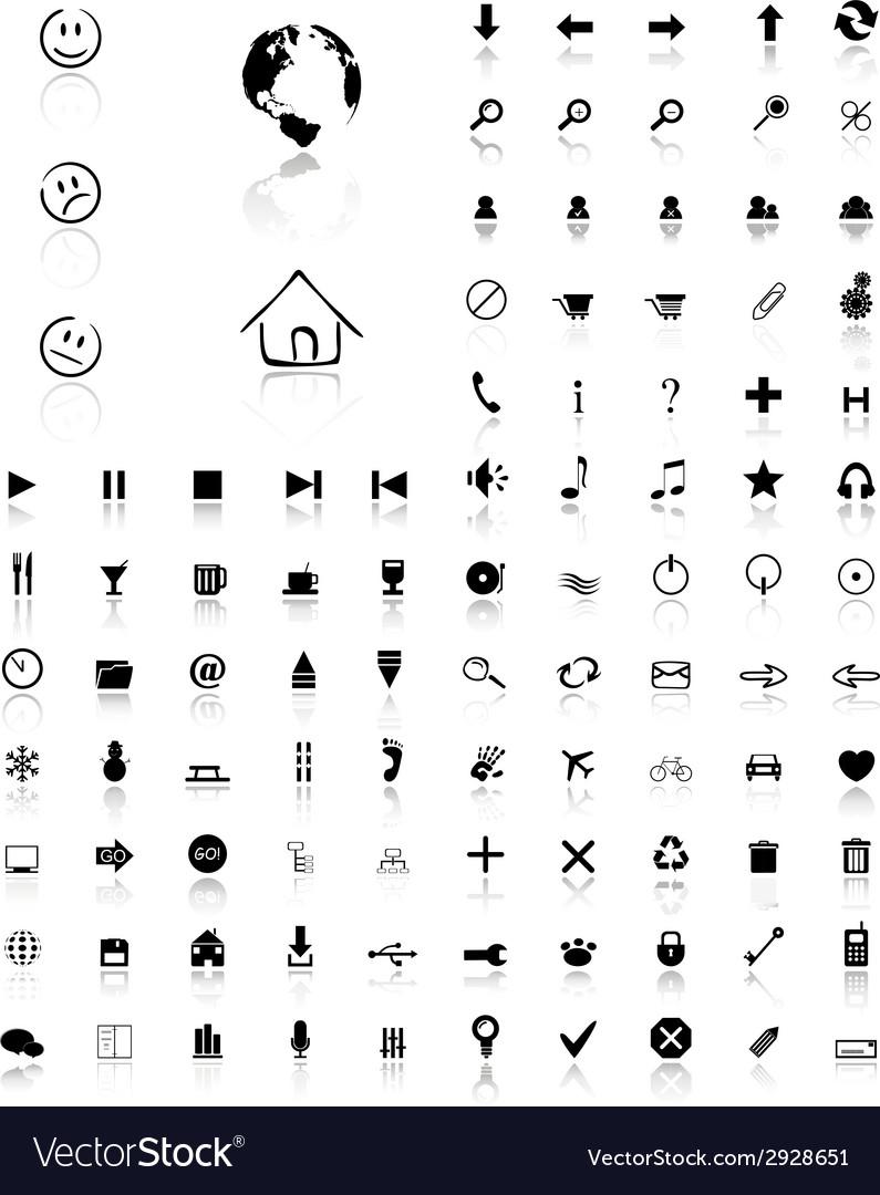 100 glossy web icons