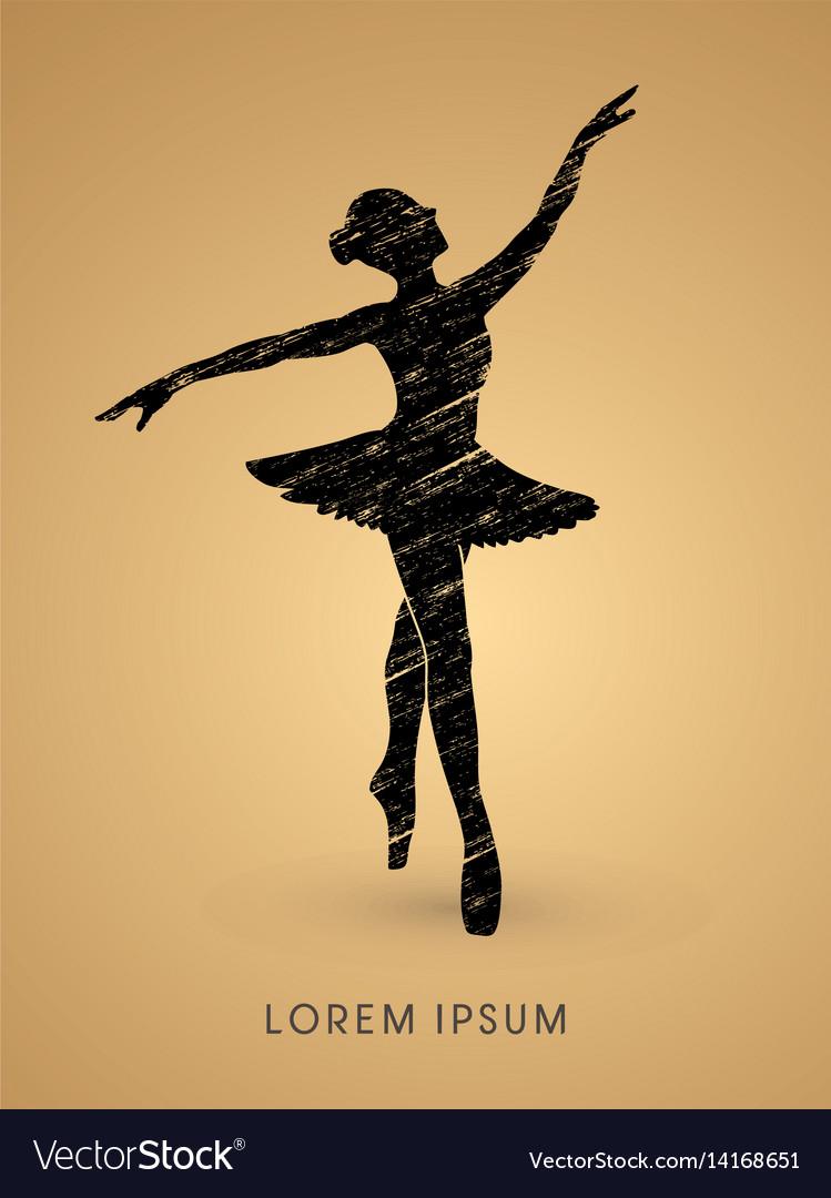 Ballet dance vector image
