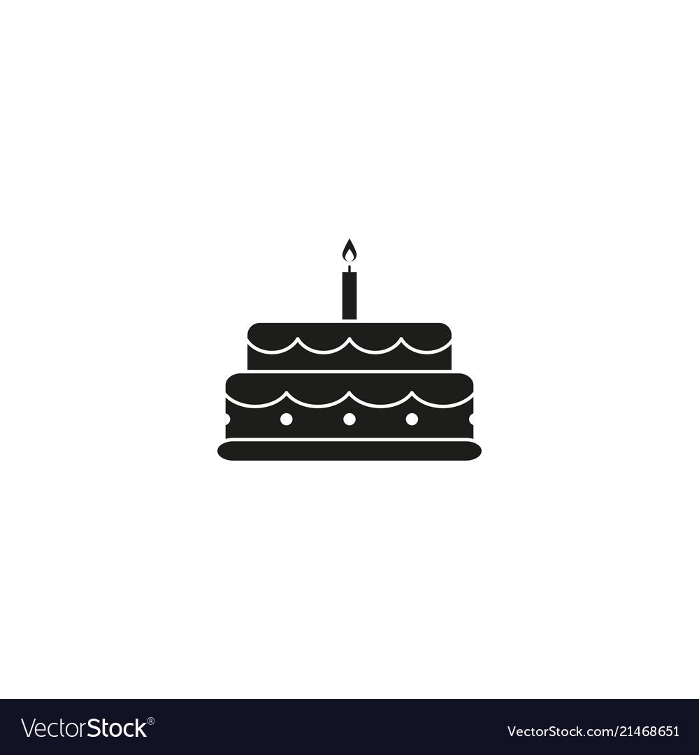 Cake celebration black icon