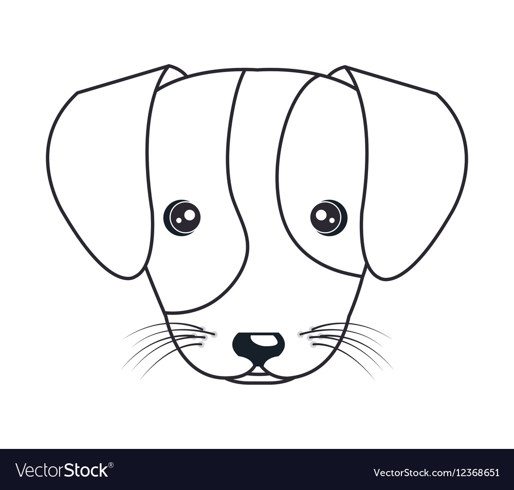 cartoon cute puppy hand draw royalty free vector image