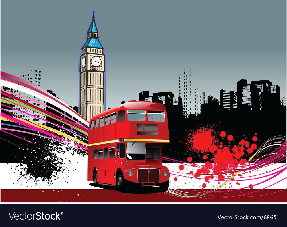 Grunge London background