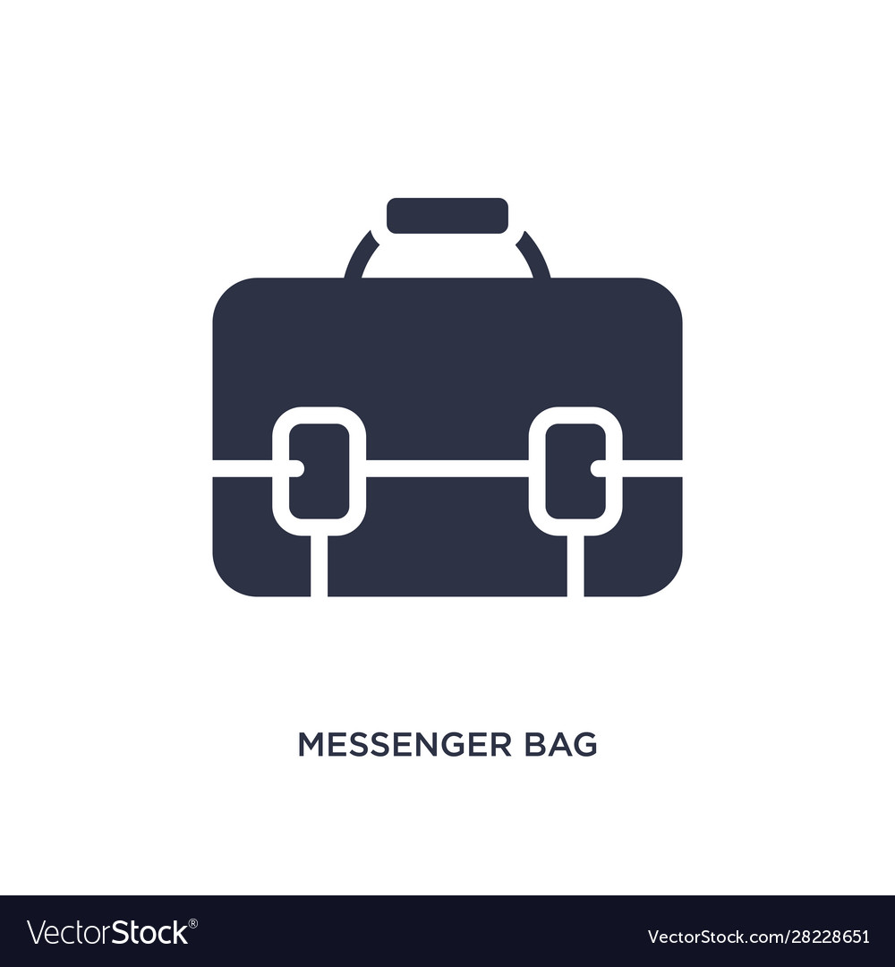 Messenger bag icon on white background simple