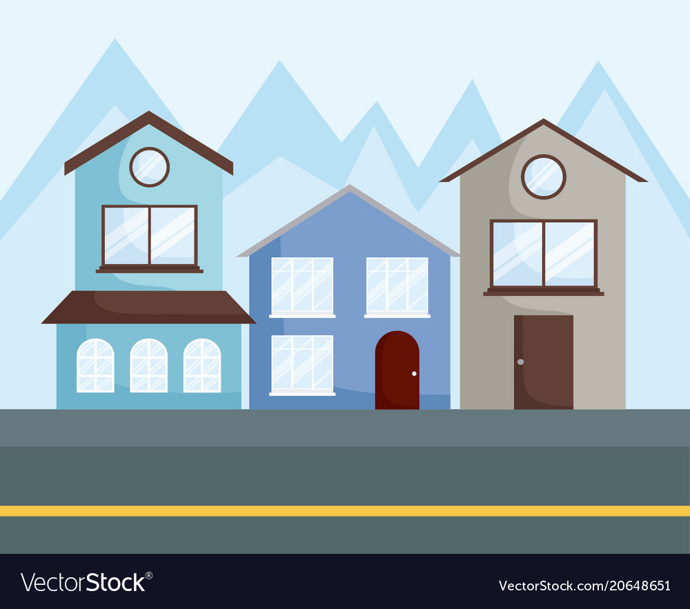 Row Of Houses Design