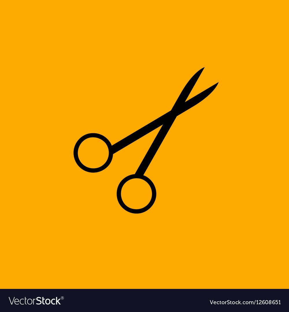 Scissors symbol isolated on white background