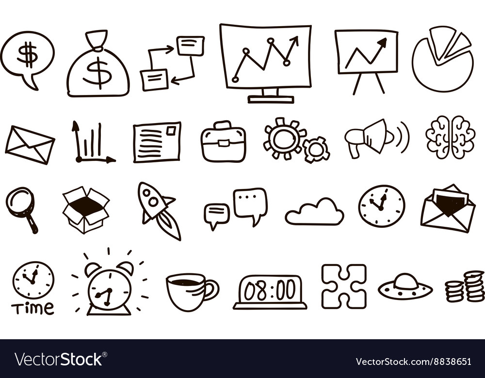 Set of icons for business vector image