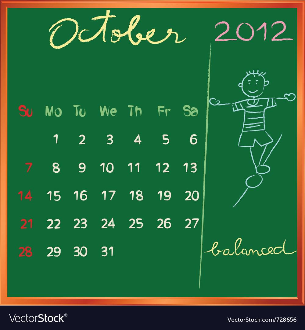 2012 calendar blackboard