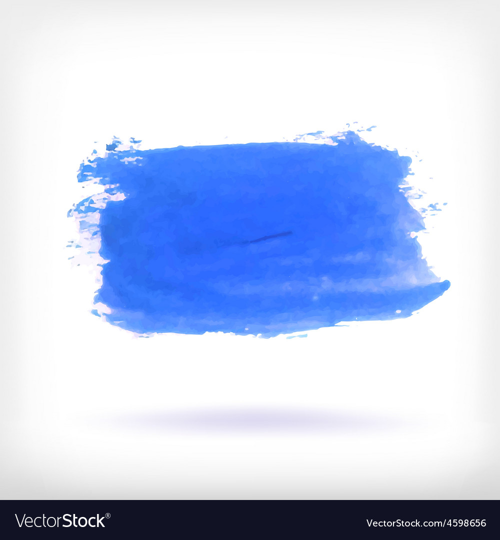 Abstract watercolor brush design elements