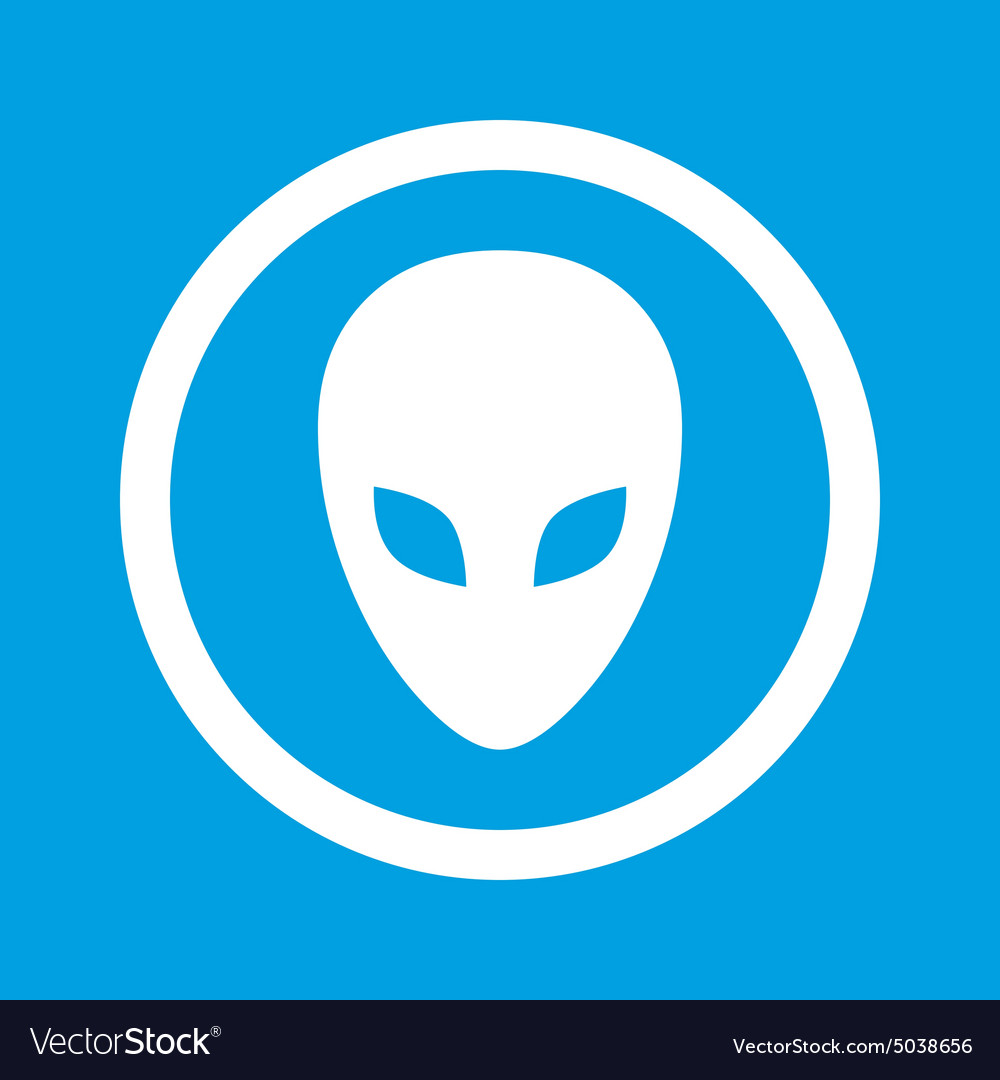 Alien sign icon vector image