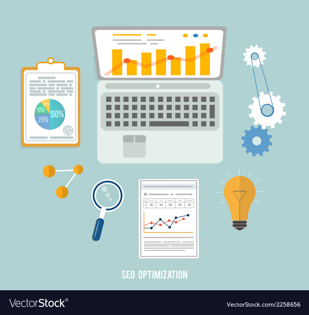 Business seo and education items icons