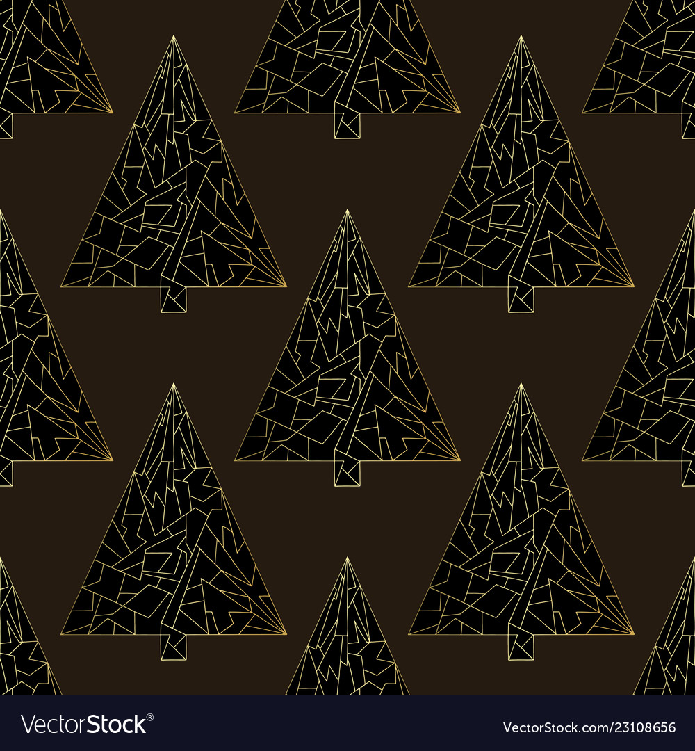Christmas tree seamless pattern happy new
