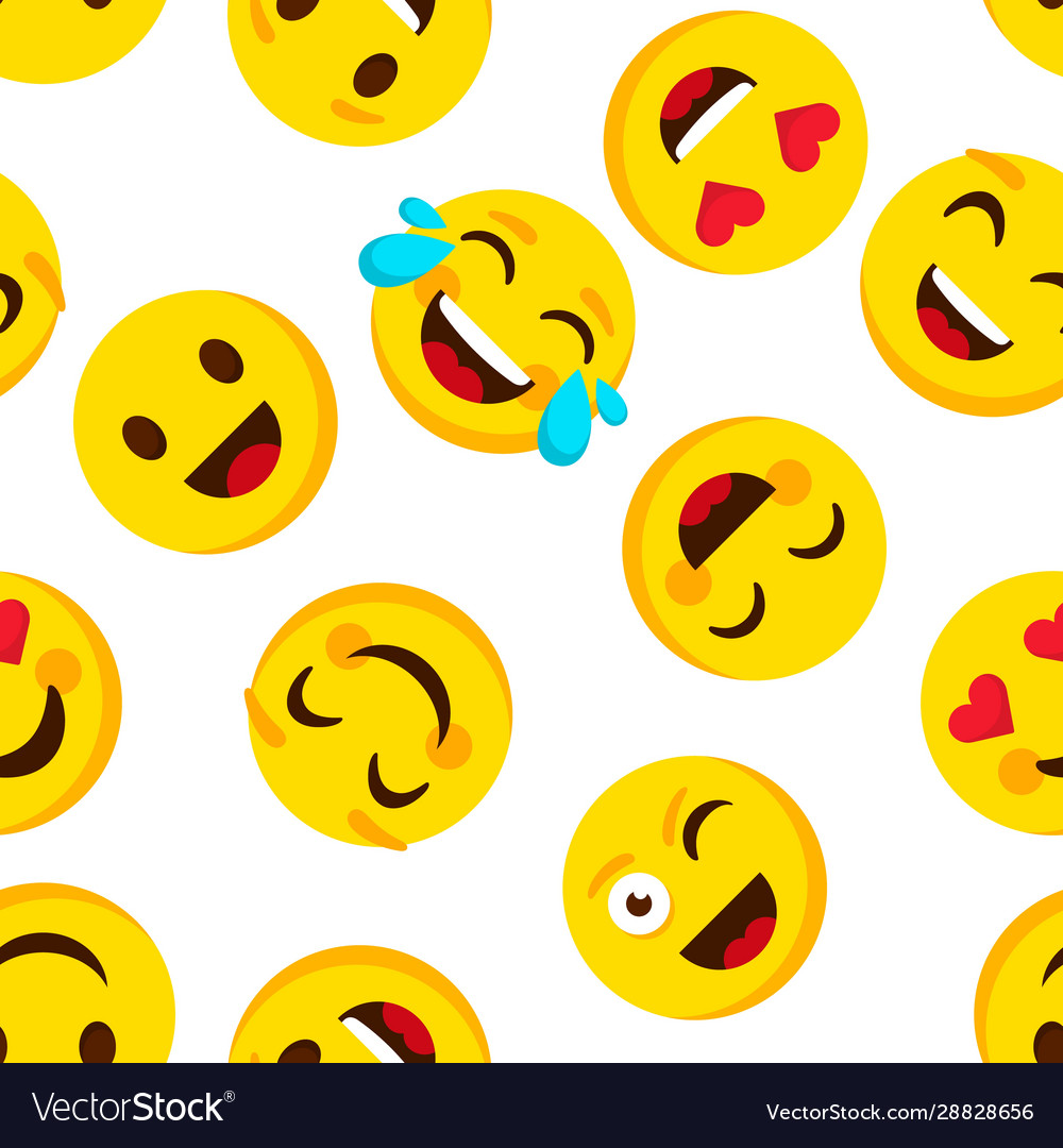 Emoticon seamless pattern emotions cartoon emojis