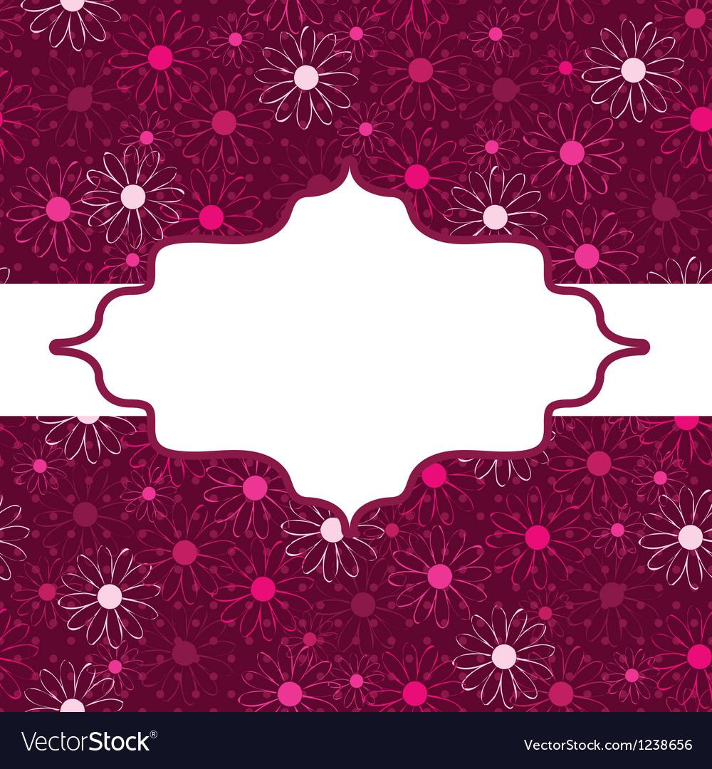 Flower decoration vector image