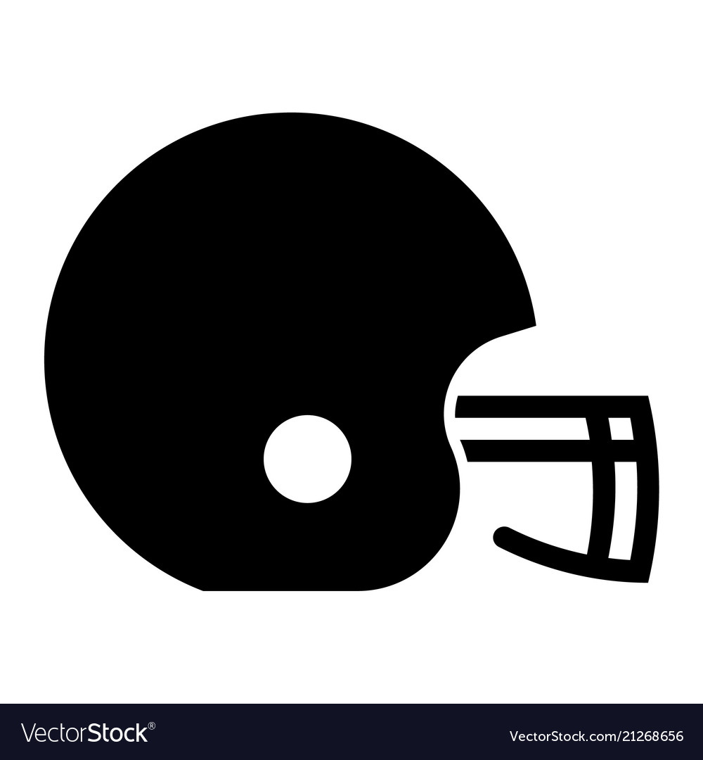 Glyph beautiful rugby helmet icon