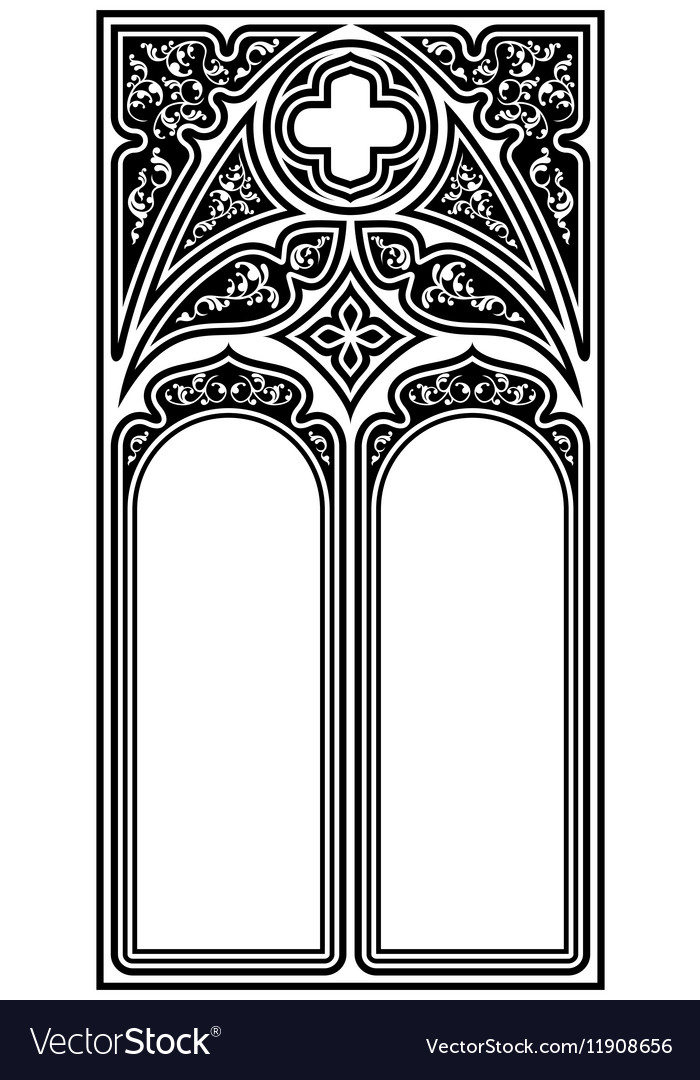 Gothic style frame Royalty Free Vector Image - VectorStock