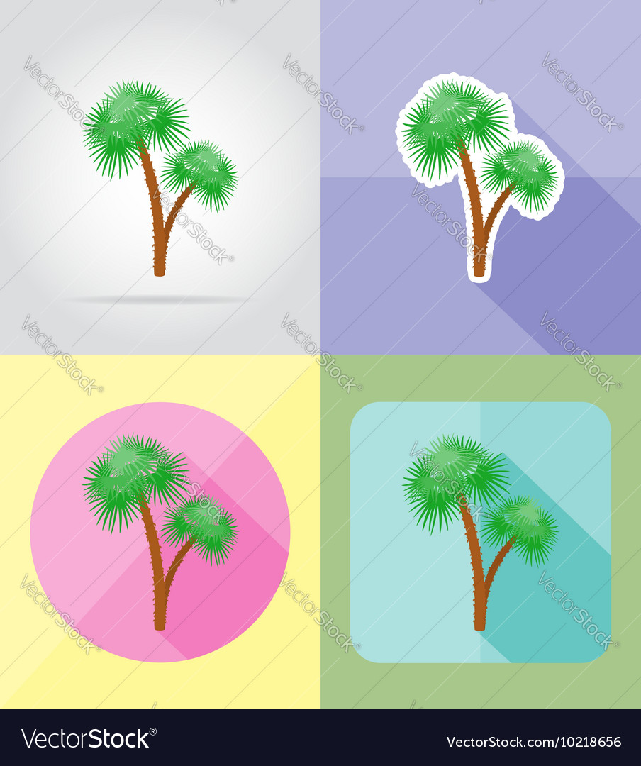 Objects for recreation a beach flat icons 11