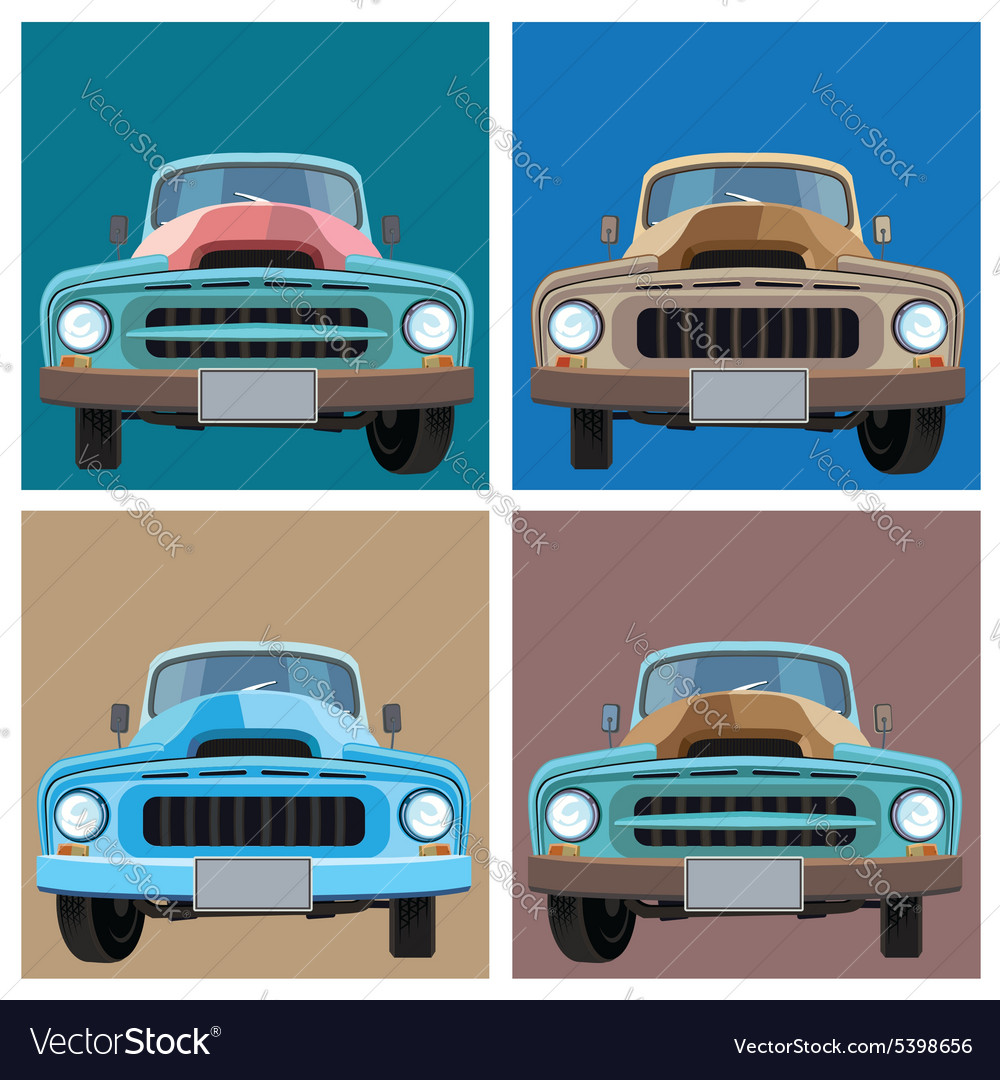 Old pickup vector image