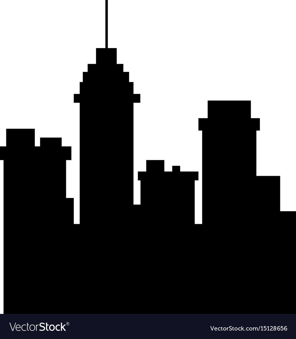 silhouette building urban city town skyscraper vector image rh vectorstock com london skyscraper vector london skyscraper vector