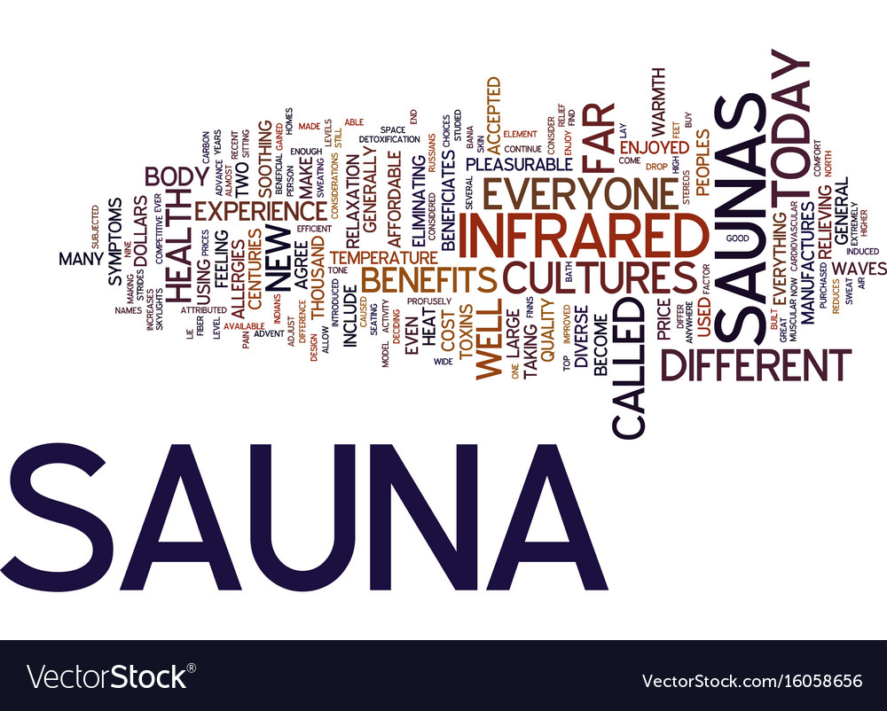 The new sauna text background word cloud concept
