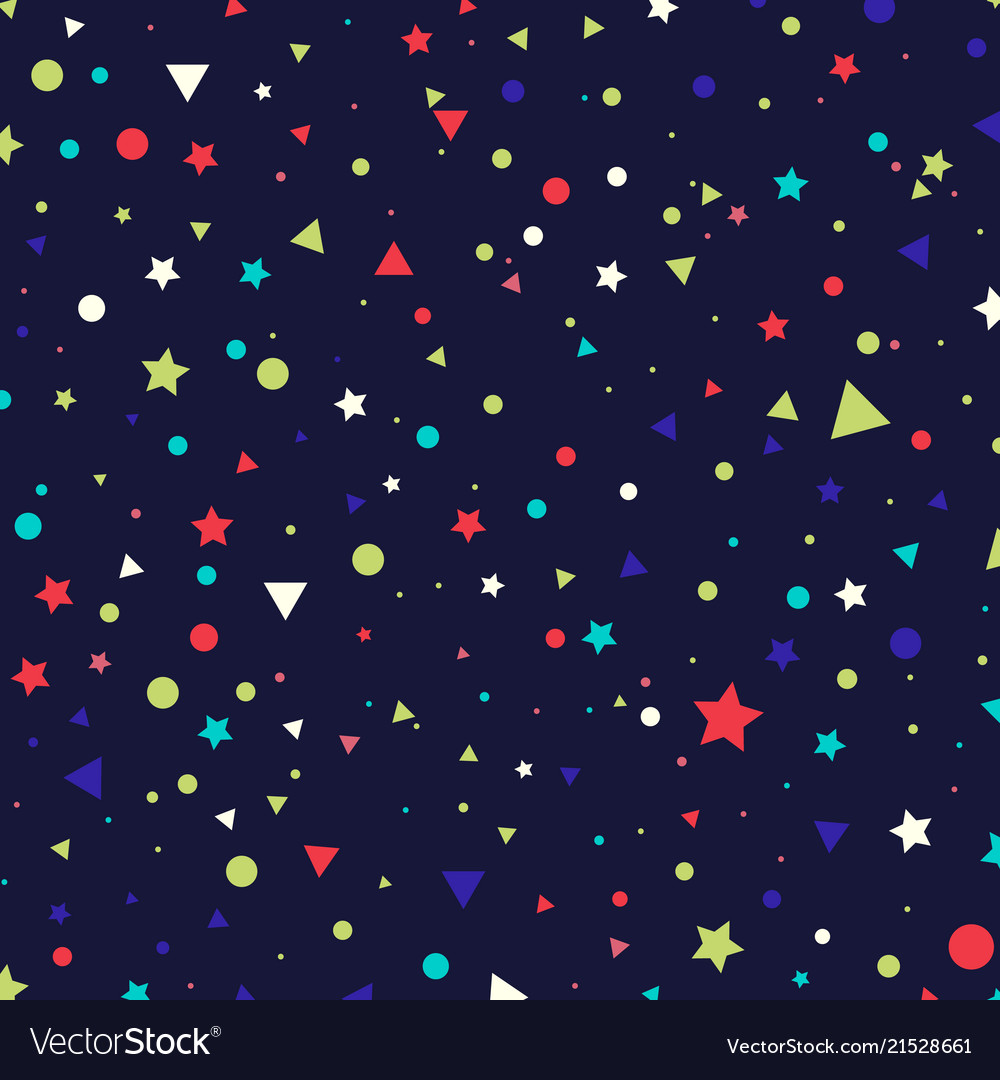 Abstract pattern colorful small circles stars and
