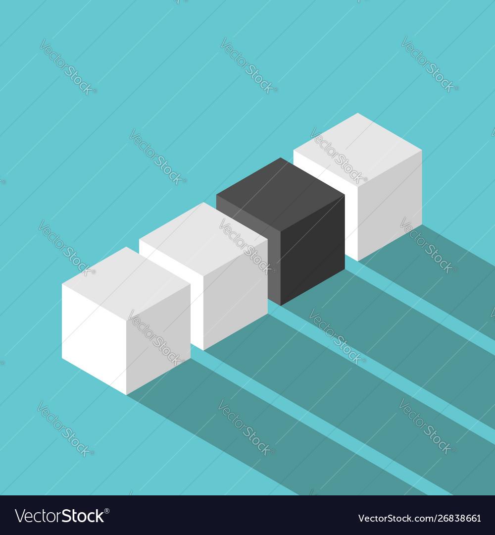 Black unique isometric cube