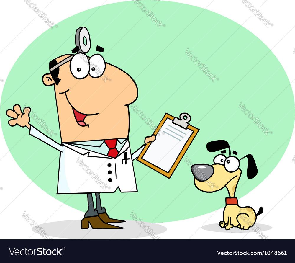 Caucasian Cartoon Canine Veterinarian Man