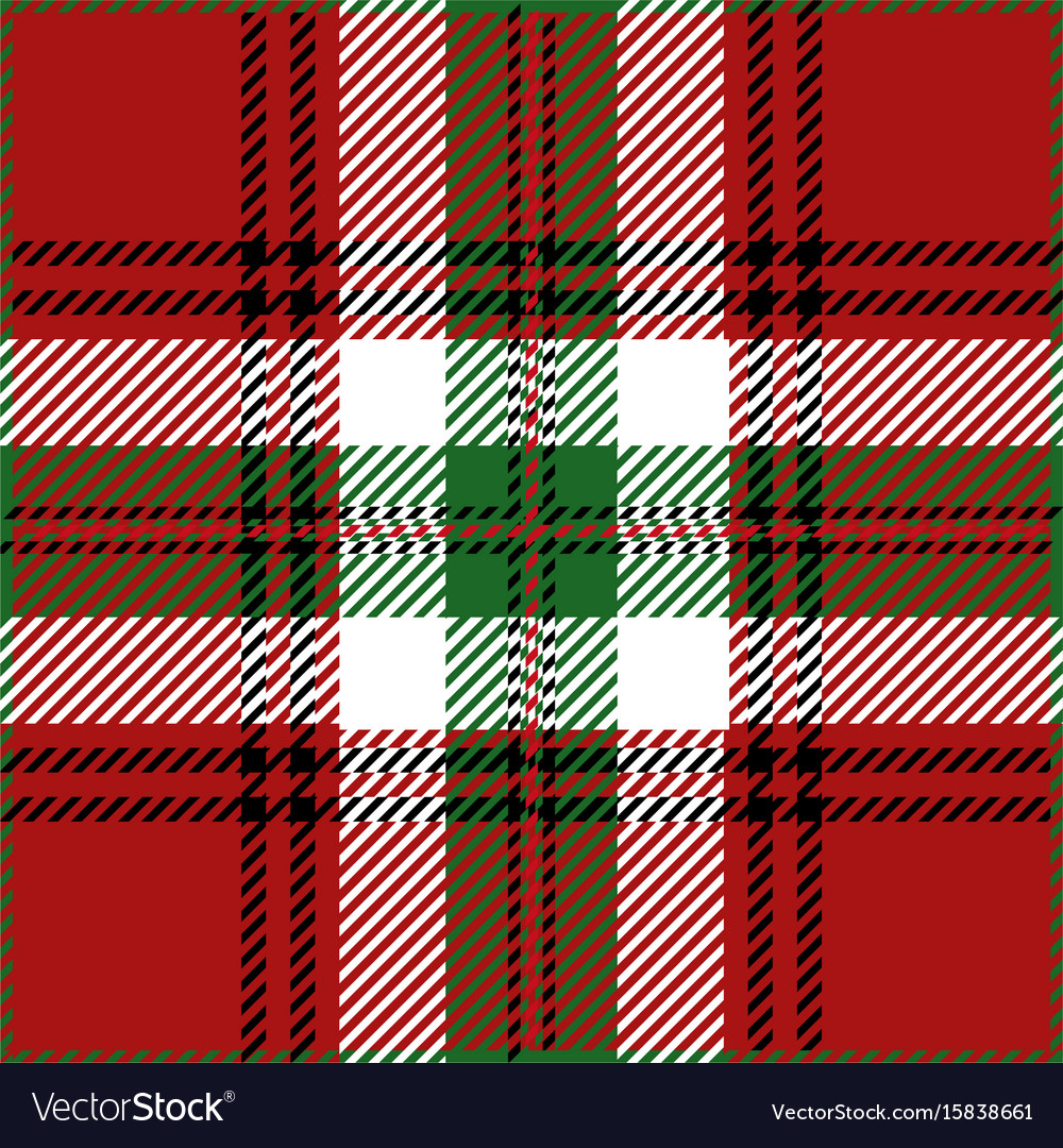 christmas tartan plaid pattern vector image - Christmas Plaid