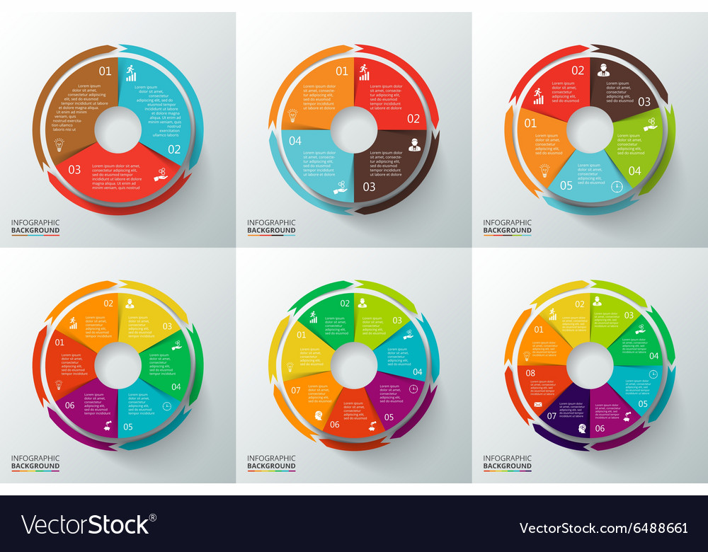 Circles with arrows for infographic