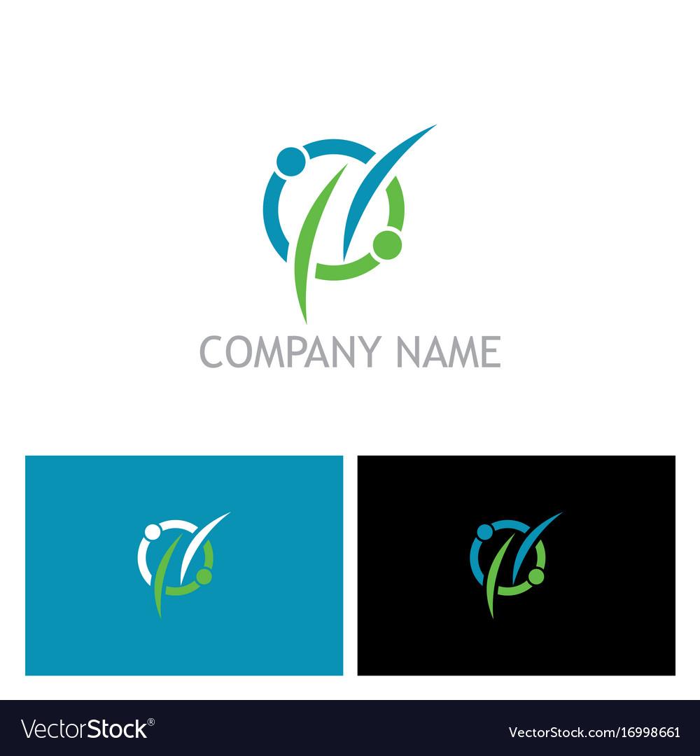 Couple connect round logo