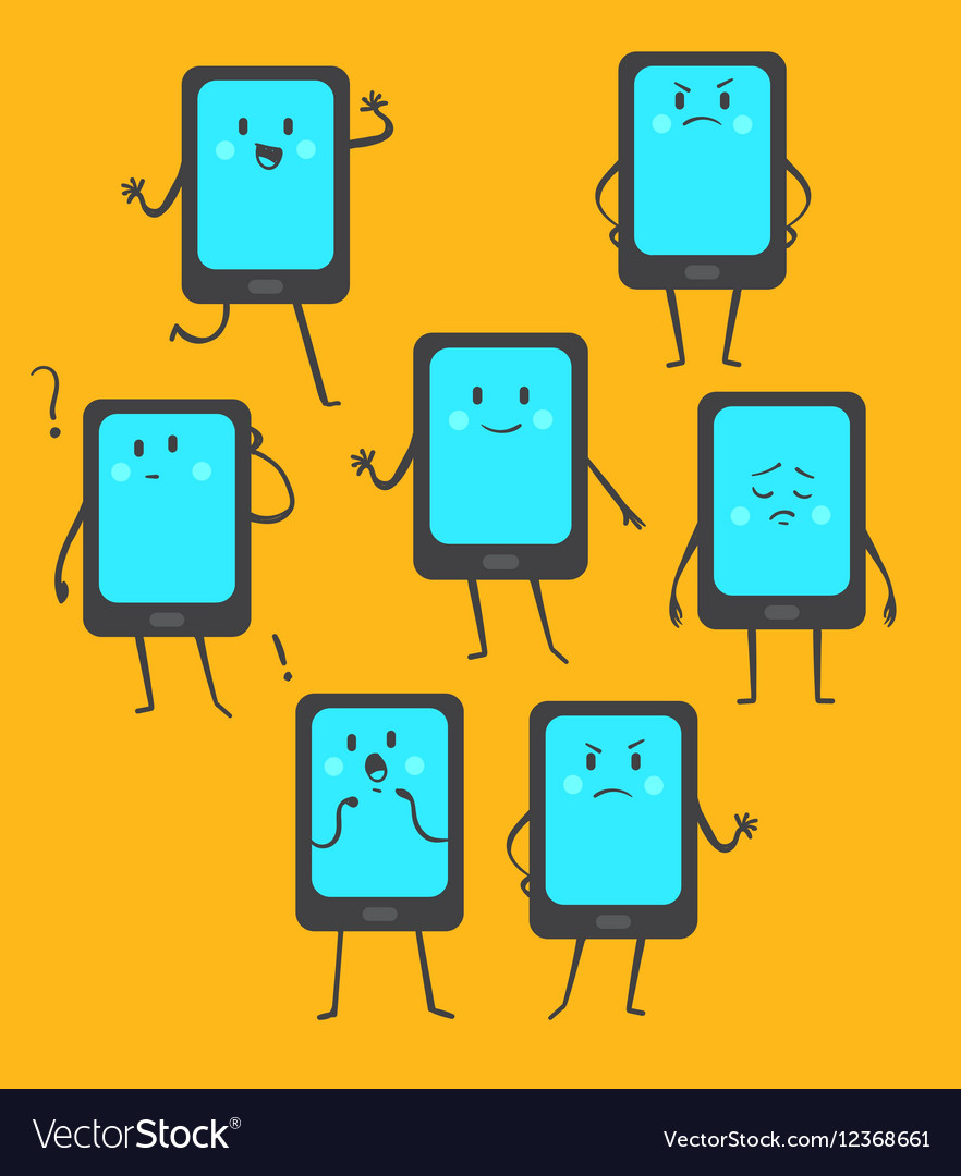 Cute Phone Set vector image