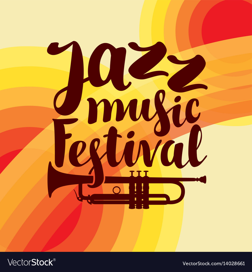 Poster for jazz festival live music with trumpet